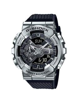 G-shock Gm110-1a Silver Bezel Analog-digital Watch