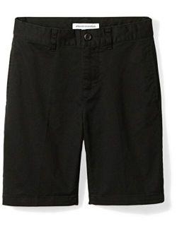 Boys' Big Woven Flat-front Khaki Shorts