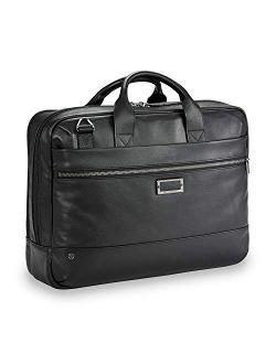 @ Work-leather Brief, Black, Slim