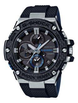 Men's Solar Black Resin Strap Watch GSTB100XA-1A