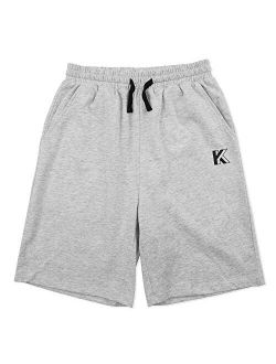 Kids Unisex 100% Cotton Casual Pull On Shorts For Boys And Girls 4-12 Years
