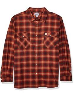 Men's Rugged Flex Hamilton Snap Front Plaid Flannel Shirt (regular And Big & Tall Sizes)