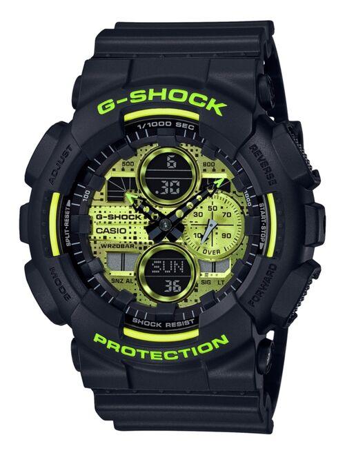 Casio Men's Analog-Digital Black Resin Strap Watch 51.2mm GA140DC-1A