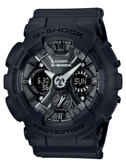 Casio G-Shock Women's Analog-Digital Black Resin Strap Watch 46mm GMAS120MF-1A
