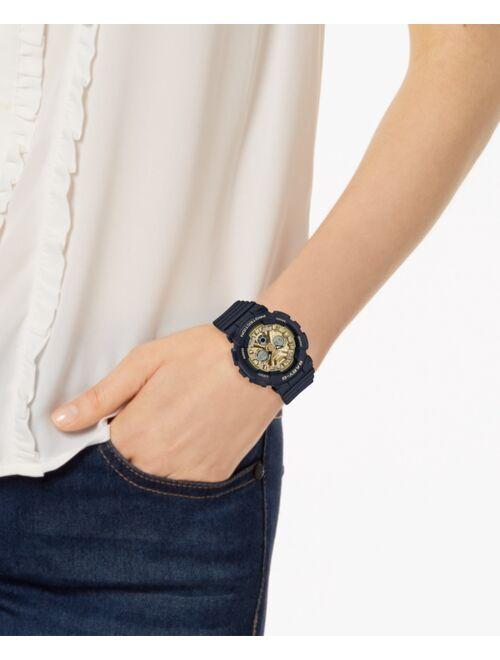 Casio Baby-G Women's Analog-Digital Black Resin Strap Watch 43.3mm