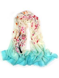 Dahlia Women's Wool Blend Scarfs, Wraps, and Shawls