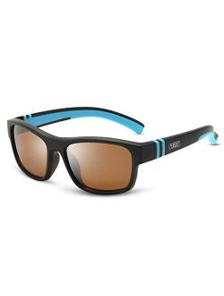 MARIDA Kids Sunglasses, Soft Unbreakable TPE Frame Sunglasses for Kids Aged 4-12, Suitable for Outdoor Fun