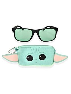 Star Wars Mandalorian Baby Yoda Boys Sunglasses with Kids Glasses Case, Protective Toddler Sunglasses