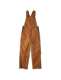 Boys Canvas Bib Overall Quilt Lined