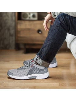 Proven Heel And Foot Pain Relief. Extended Widths. Best Orthopedic Plantar Fasciitis Diabetic Men's Walking Shoes Sneakers Edgewater
