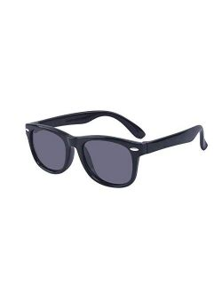 Outray Kids Polarized Sunglasses Silicon Flexible Frame for Boys Girls Age 3-12 100% UV Protection