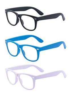 Outray 3 Pack Kids Blue Light Glasses Girls & Boys Age 3-10 Computer Gaming Eyeglasses Anti Eyestrain