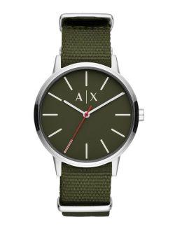 Men's Cayde Green Nylon Strap Watch 42mm