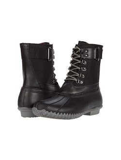 Womens Duck Boots Waterproof Insulated Lace Up Two Tone Rain Shoes