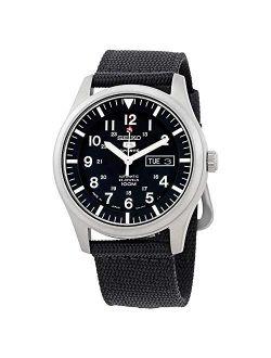 5 Automatic Black Dial Mens Watch Snzg15j1