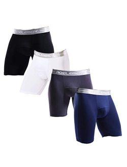 Men's Underwear Long Leg Boxer Briefs Performance Boxers Modal Underwear No Ride Up Boxer Brief