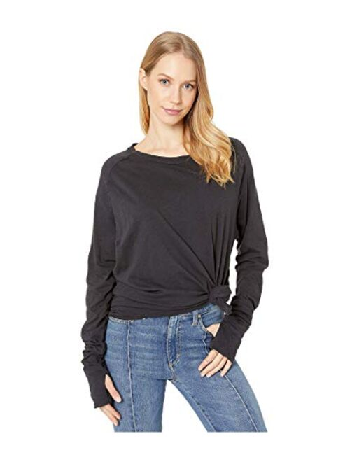 Free People Women's Solid Long Sleeve With Thumbhole Arden Tee