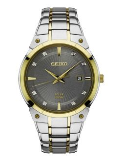 Men's Sne430 Japanese Quartz Stainless Steel Watch, Color:two Tone, Solar