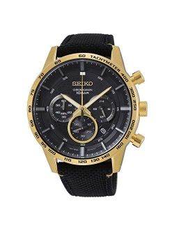Neo Sports Chronograph Quartz Black Dial Men's Watch Ssb364