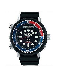 "Prospex""arnie"" Re-issue Sports Solar Diver's 200m Pepsi Bezel Watch Snj027p1"