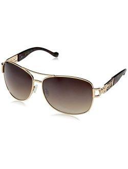 Women's J5713 Metal Aviator Sunglasses With 100% Uv Protection, 67 Mm