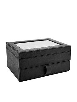 Leather Ten-piece Watch Display And Storage Box Case