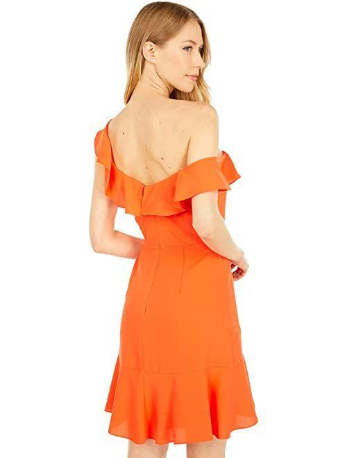 BCBGMAXAZRIA One Shoulder Ruffle Cocktail Dress