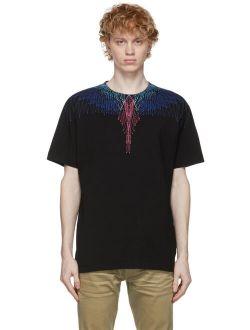 Black & Multicolor Wings T-Shirt