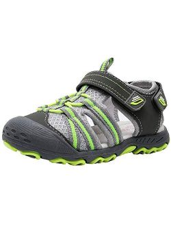 Ahannie Boys Girls Outdoor Sport Sandals,Kids Closed Toe Beach Sandals, Toddler Summer Sandals