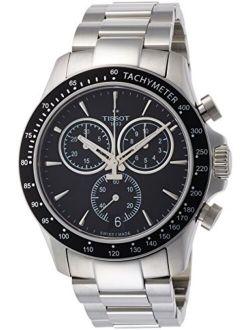 Mens V8 Chrono Quartz Stainless Steel Casual Watch Grey T1064171105100