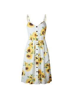 Ladies Print Floral Long Boho Bohemian Beach Summer Dress Women Sundress Sexy V-Neck Dress Vestido