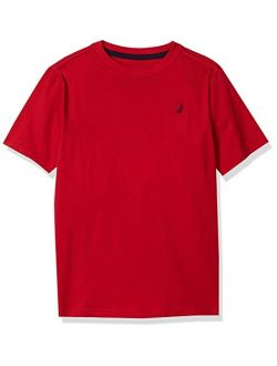 Boys' Short Sleeve Solid Crew Neck T-shirt