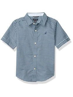 Boys' Short Sleeve Patterned Button Up Shirt