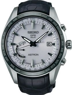 Astron Sse093j1 Silver Leather Man Chronograph