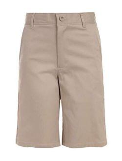 Boys' School Uniform Flat Front Stretch Twill Short