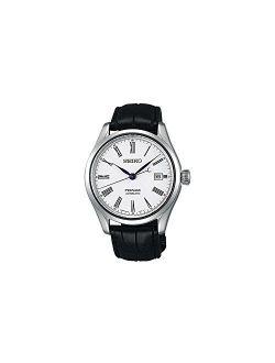 Presage Mens Analog Automatic Watch With Leather Bracelet Spb047j1est