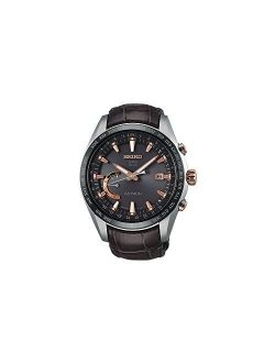 Astron Sse095j1 Silver Leather Man Chronograph