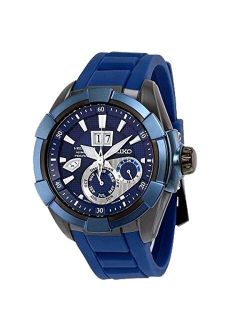 Kinetic Sapphire Blue Dial Rubber Band Mens Watch Snp121 By Seiko Watches