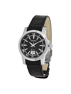 Sur015p2 Men's Premier Black Dial Stainless Steel Watch