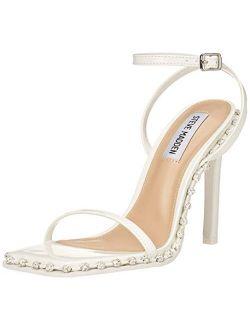 Zelle Square Open Toe Stiletto Heeled Sandal