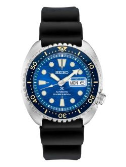 Men's Automatic Prospex Turtle Black Silicone Strap Watch 45mm - A Special Edition