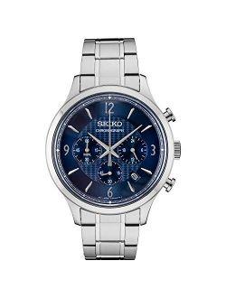 Men's Chronograph Essentials Slim Stainless Steel Bracelet Watch 43.3mm