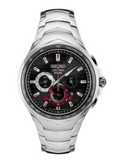 Men's Solar Chronograph Coutura Stainless Steel Bracelet Watch 45.5mm