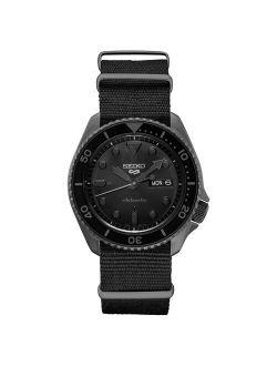 Srpd79 Seiko Sports 5 Men's Watch Black 42.5mm Stainless Steel