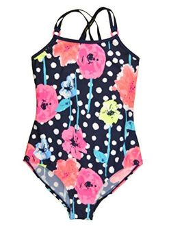 Osh Kosh B'Gosh Big Girls Floral One-Piece Swimsuit