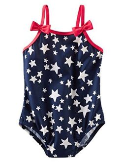 Osh Kosh B'Gosh Baby Girls Navy Stars One Piece Swim Suit