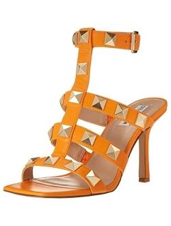 Women's Capri Studded Stiletto Heel Ankle Strap Sandals