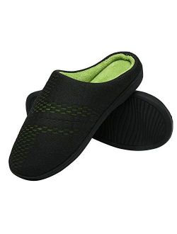 Men's Women's House Slippers Memory Foam Mules Slippers Warm Plush Lined House Shoes