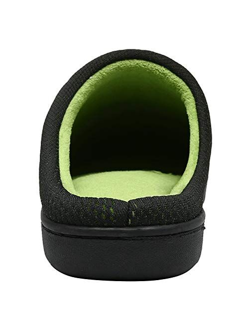 ChayChax Men's Women's House Slippers Memory Foam Mules Slippers Warm Plush Lined House Shoes