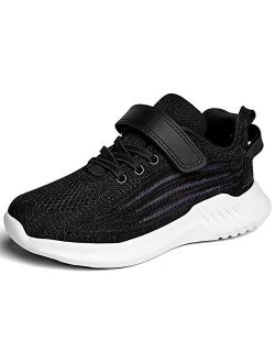 Kids Lightweight Athletic Running Shoes Breathable Slip On Sneakers Boys Girls Tennis Shoes